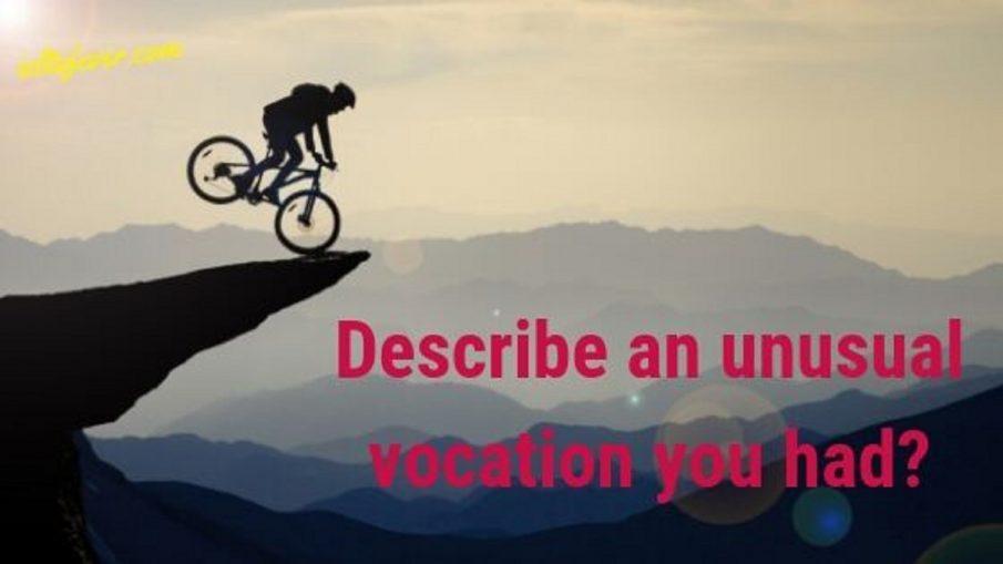 Describe an unusual vocation you had