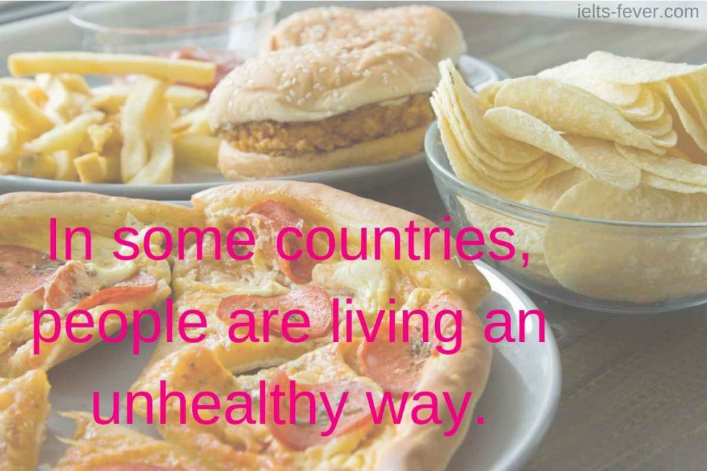 In some countries, people are living an unhealthy way.