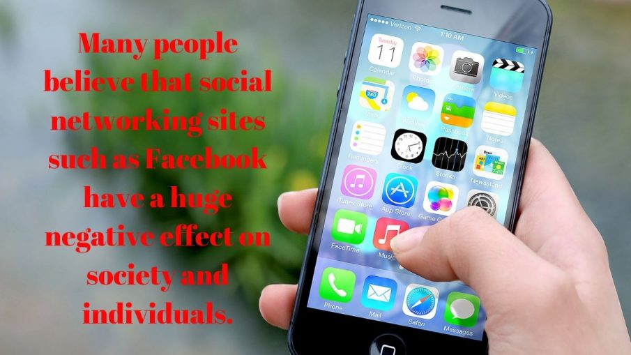 Many people believe that social networking sites