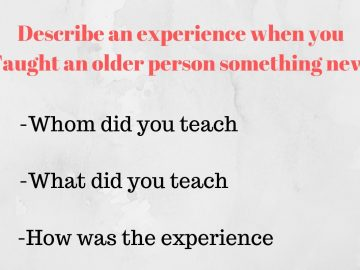 experience when you taught