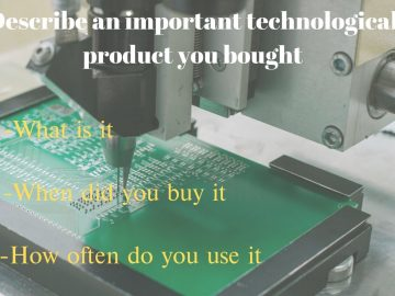 technological product you bought
